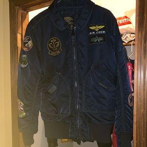 Alpha industries bomber jacket Navy blue